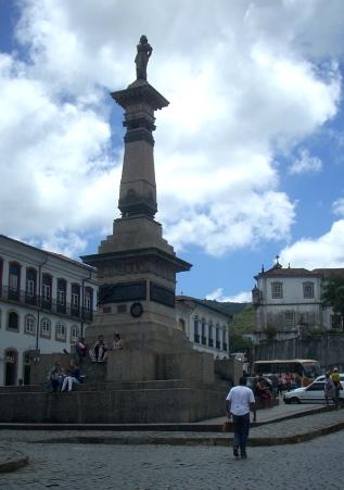 Monumento al Tiradentes, nell'omonima piazza